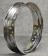 """SPIN WERKES Pre-Punched Chrome Plated Steel WM6 (3.50) x 16"""" - 60 hole"""