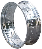 Excel Pre-Punched Chrome Plated Aluminum Rims - Wide